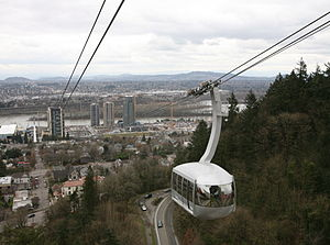 "The Portland Aerial Tram car ""Walt"" ..."