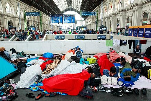 Refugees Budapest Keleti railway station 2015-09-04
