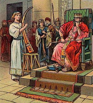 English: Saul Tries To Kill David; as in 1 Sam...