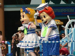 splash mascots. Korean Amusement park.