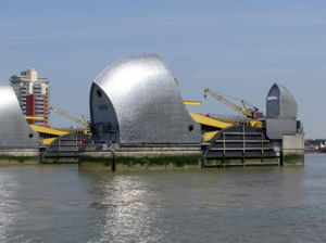 The Thames Barrier is one of the flood risk ma...