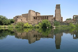 View of the Temple of Philae at Agilkia Island...