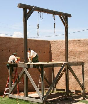 Gallows in Tombstone Courthouse State Historic...