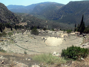 Ancient Greek theater in Delphi