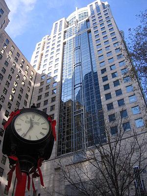 Skyscraper in downtown Charlotte, NC