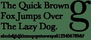 sample text in Baskerville font