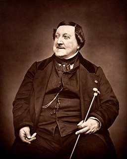 Composer Rossini G 1865 by Carjat - Restoration