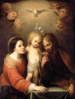 English: Holy Family, Mary, Joseph, and child ...