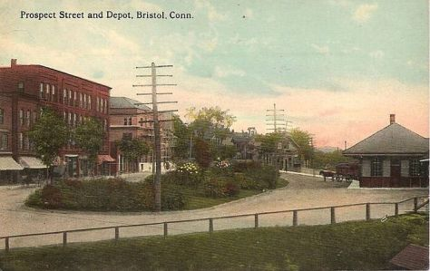 English: Postcard picture of Prospect Street a...