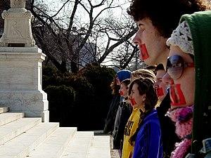 Members of Bound4LIFE in Washington, D.C. symb...