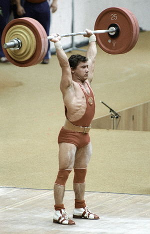 "English: ""Soviet weight-lifter Viktor Mazin du..."
