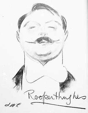 English: Caricature of Rupert Hughes (1872-195...