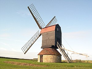 The restored windmill at Stevington, Bedfordshire