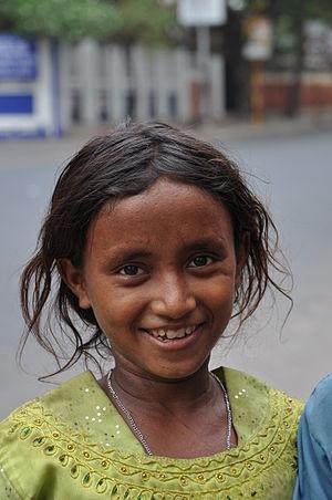 The friendly street girl child of Kolkata, India.