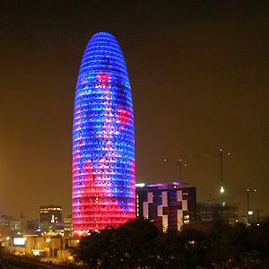 Torre Agbar in Barcelona, Spain, architect: Je...