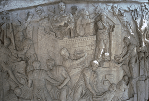 Trajan's Column - Roman Soldiers Building a Fo...