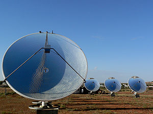 English: Solar power station in White Cliffs, ...