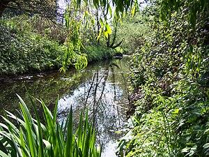 English: The Yeading Brook flowing through Rui...