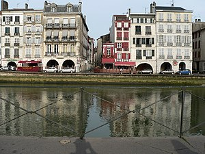 Petit Bayonne. View across the Nive