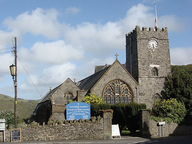 Church of St Mary the Virgin in Lynton, seen from the north west