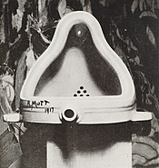 Fountain by Marcel Duchamp, 1917, photograph by Alfred Stieglitz.