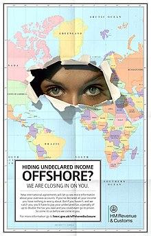 220px HMRC offshore evasion poster February 2014 - Paradiso fiscale, sogno di questo periodo