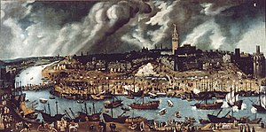 The port of Sevilla in the 1500s. As required ...