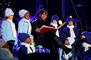 "First Lady Michelle Obama reads ""'Twas the Nig..."