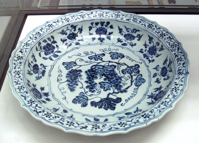 File:Ming plate 15th century Jingdezhen kilns Jiangxi.jpg