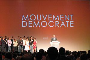 François Bayrou lors du premier meeting du Mou...