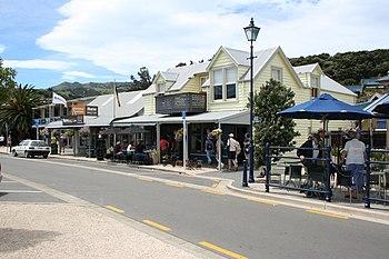 English: City of Akaroa, Banks Peninsula, Sout...