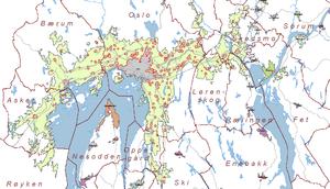 Map of tettstedet Oslo made by Statistisk Sent...