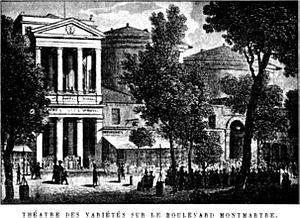 The Théâtre des Variétés in Paris, France, 1800s