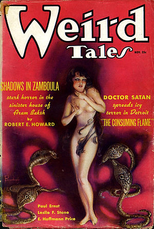 Cover of Weird Tales (November 1935): The feat...