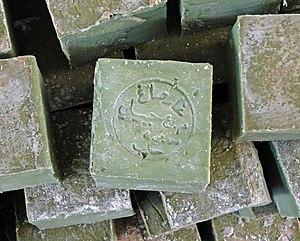 English: Aleppo soap, Syria Français : Savon d...