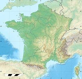 Voir la carte topographique deFrance