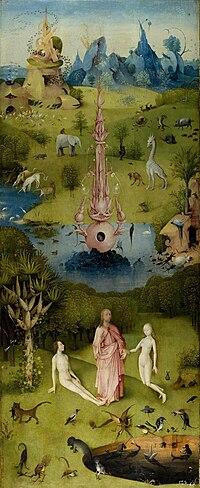 """El jard�n del Edén"""", de Hieronymus Bosch"""