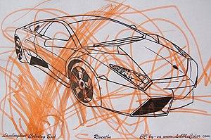 Coloring cars is great! This orange Lamborghin...
