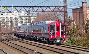 English: Metro-North M-8 test train at Port Ch...