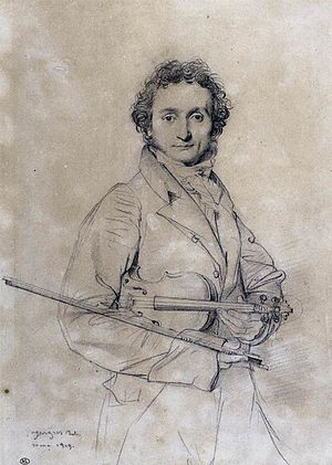 Coal drawing by Jean Auguste Dominique Ingres,...