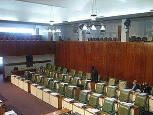 Inside the Parliament of Jamaica
