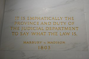 Inscription on the wall of the Supreme Court B...