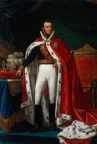 Erster Herrscher des heutigen Königreiches: Willem I., Gemälde 1819