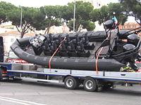 Battello pneumatico in forza ai GIS (parata 2 giugno 2007)
