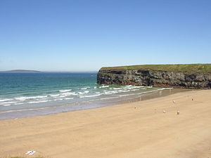 The beach in Ballybunion in Kerry of Ireland. ...