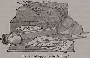 Book and apparatus for writing. Engraving (pri...