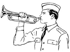 Bugel player line art drawing