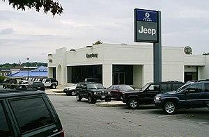 Car dealership in Rockville, Maryland (Courtes...