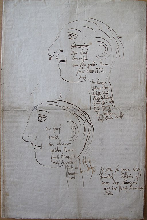 Christian VII - Portraits of Struensee and Brandt