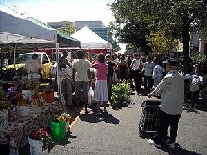 English: The Dupont Circle Farmers Market, a w...